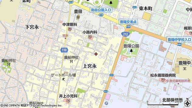 大分県中津市上宮永126周辺の地図