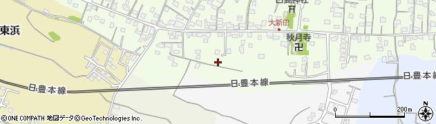 大分県中津市大新田西大新田周辺の地図
