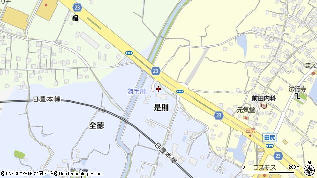 大分県中津市是則334周辺の地図