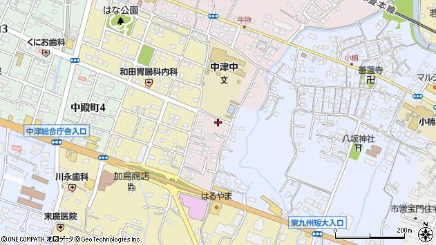 大分県中津市牛神649周辺の地図