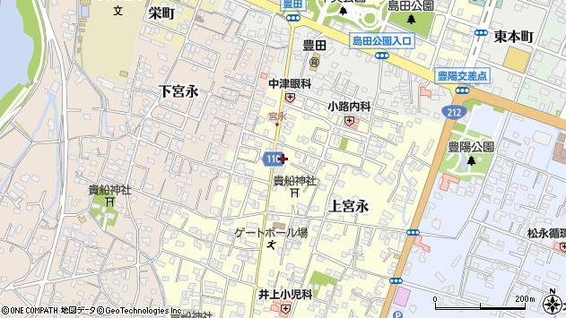 大分県中津市上宮永53周辺の地図