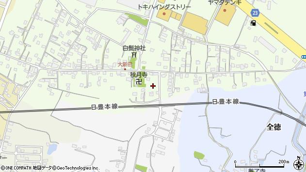 大分県中津市大新田992周辺の地図