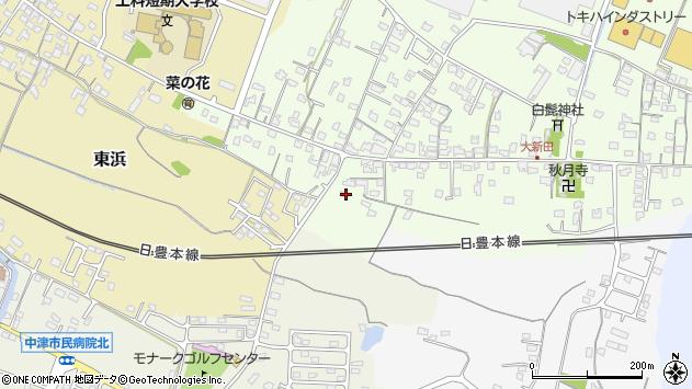 大分県中津市大新田1096周辺の地図