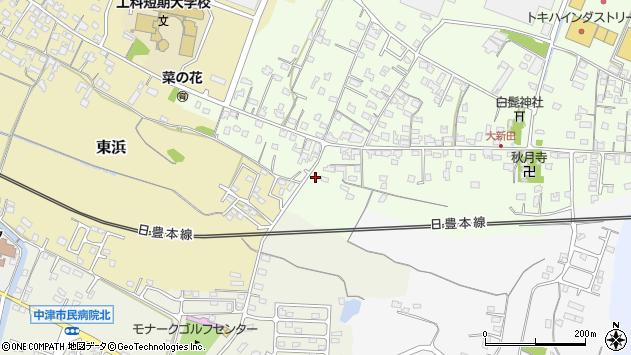 大分県中津市大新田1097周辺の地図