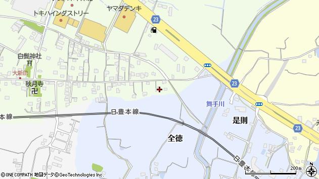 大分県中津市大新田1036周辺の地図