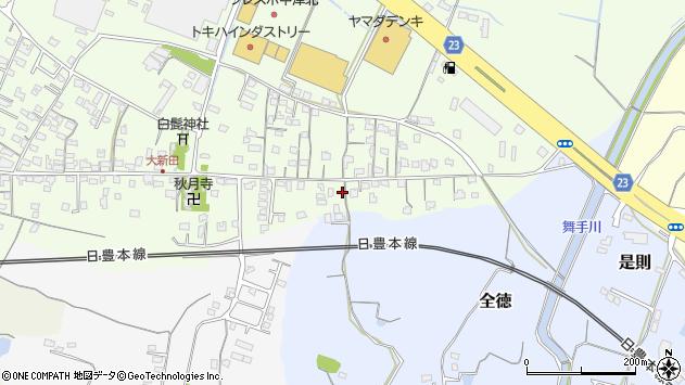 大分県中津市大新田1009周辺の地図
