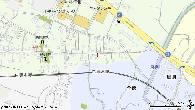 大分県中津市大新田1017周辺の地図