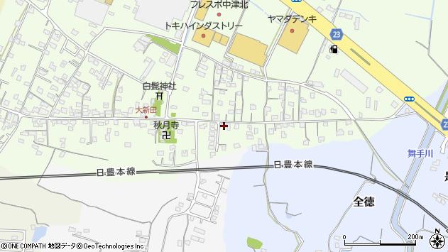 大分県中津市大新田1002周辺の地図