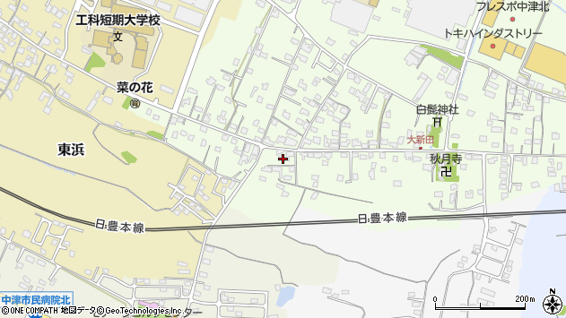 大分県中津市大新田937周辺の地図