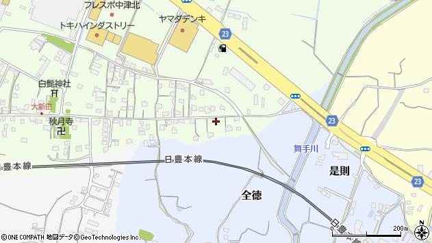大分県中津市大新田1031周辺の地図