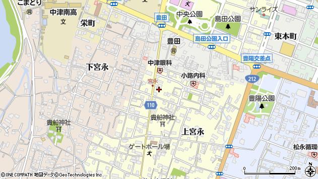 大分県中津市上宮永59周辺の地図
