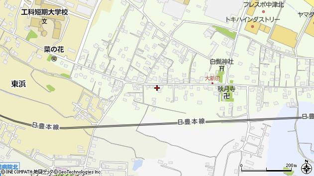大分県中津市大新田952周辺の地図