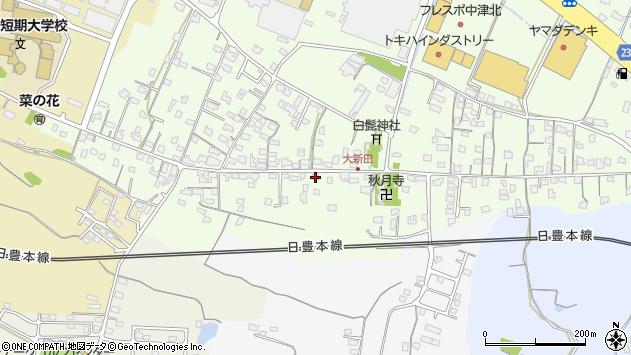 大分県中津市大新田965周辺の地図