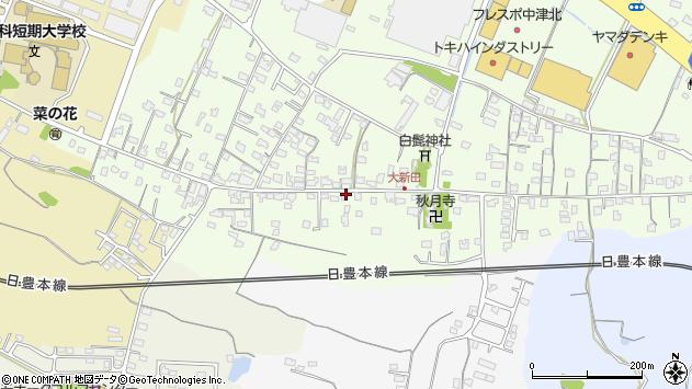 大分県中津市大新田960周辺の地図