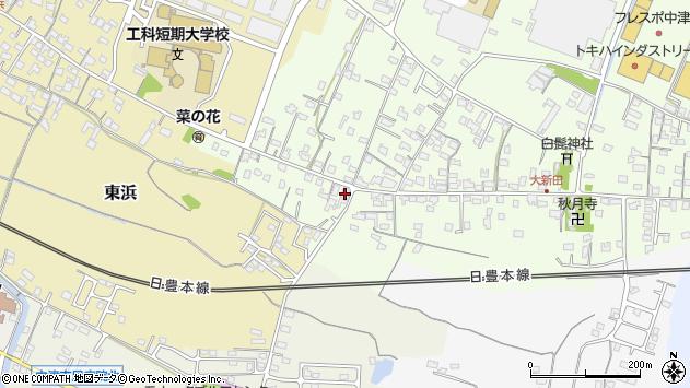大分県中津市大新田930周辺の地図