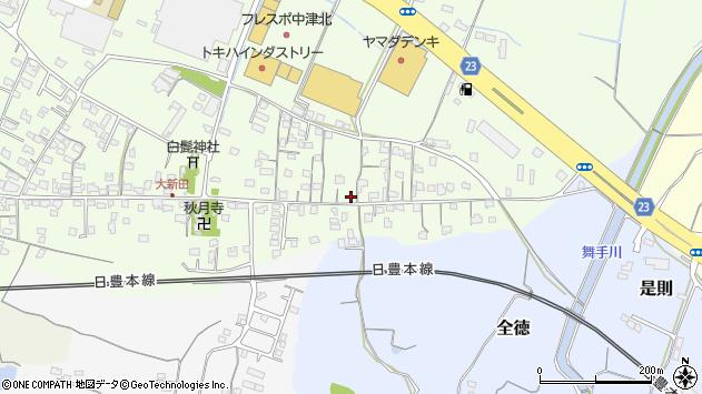 大分県中津市大新田678周辺の地図