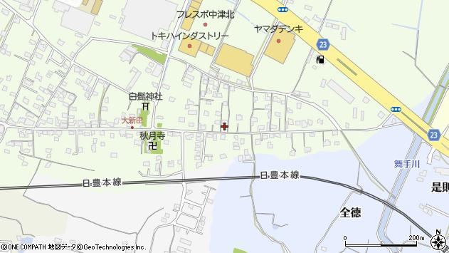 大分県中津市大新田693周辺の地図