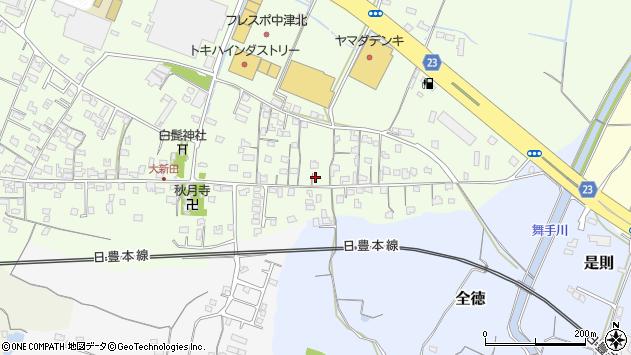 大分県中津市大新田679周辺の地図