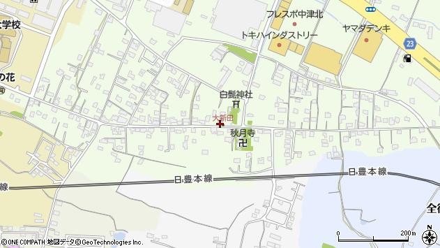 大分県中津市大新田742周辺の地図
