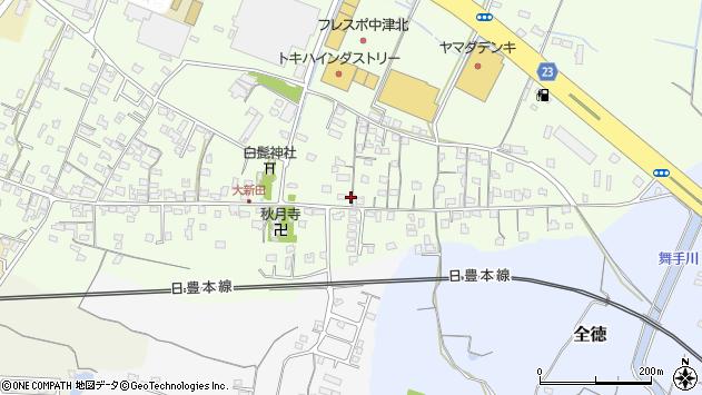 大分県中津市大新田718周辺の地図
