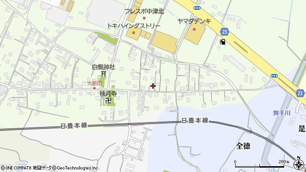 大分県中津市大新田694周辺の地図
