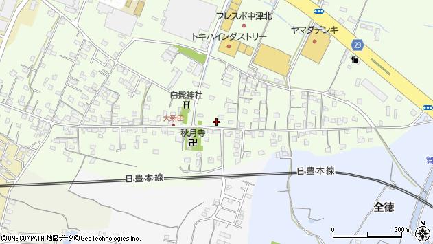 大分県中津市大新田733周辺の地図