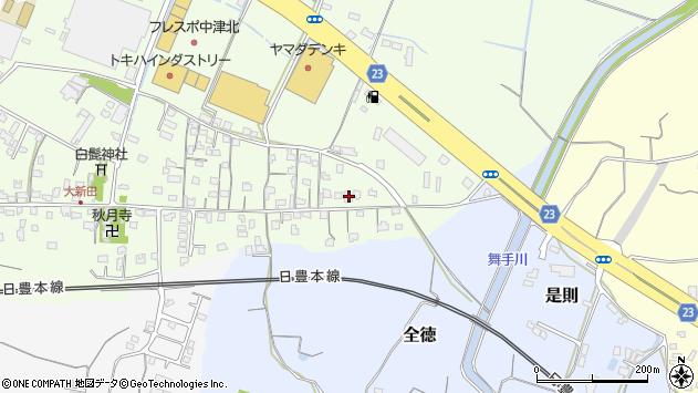 大分県中津市大新田646周辺の地図