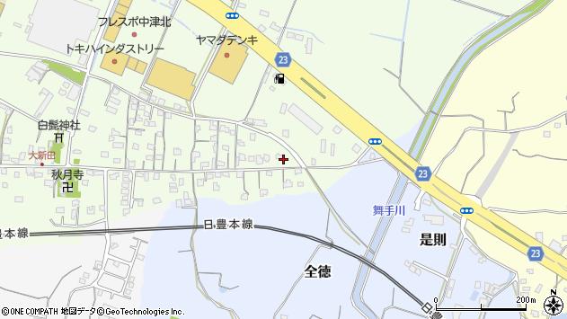 大分県中津市大新田640周辺の地図