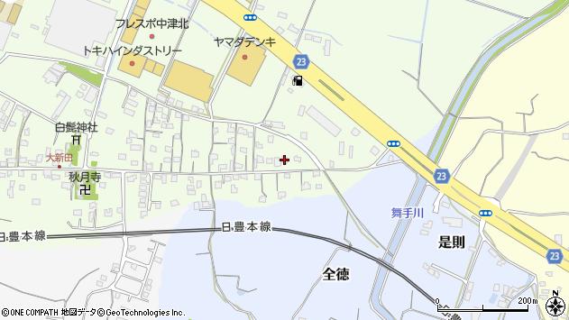 大分県中津市大新田643周辺の地図