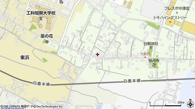 大分県中津市大新田818周辺の地図