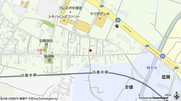 大分県中津市大新田677周辺の地図