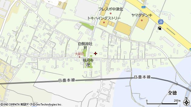 大分県中津市大新田738周辺の地図