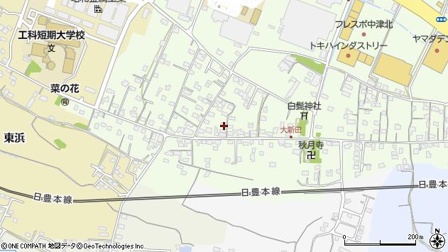 大分県中津市大新田778周辺の地図
