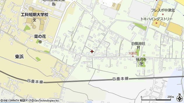 大分県中津市大新田798周辺の地図