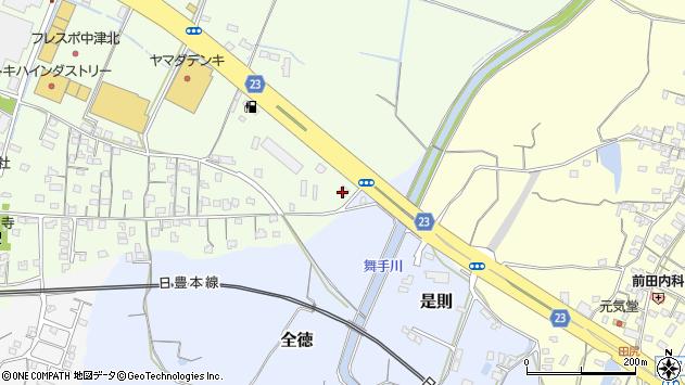 大分県中津市大新田616周辺の地図