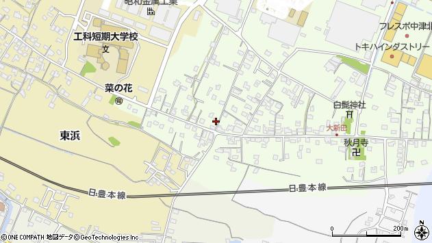 大分県中津市大新田844周辺の地図
