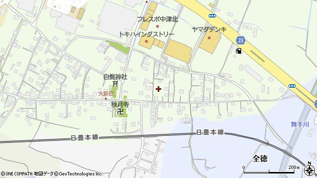 大分県中津市大新田712周辺の地図