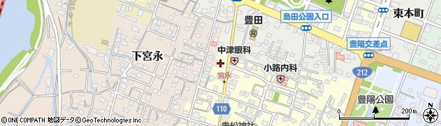 大分県中津市上宮永64周辺の地図