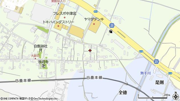 大分県中津市大新田667周辺の地図