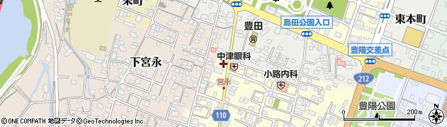 大分県中津市上宮永66周辺の地図