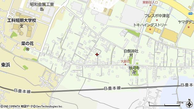 大分県中津市大新田772周辺の地図