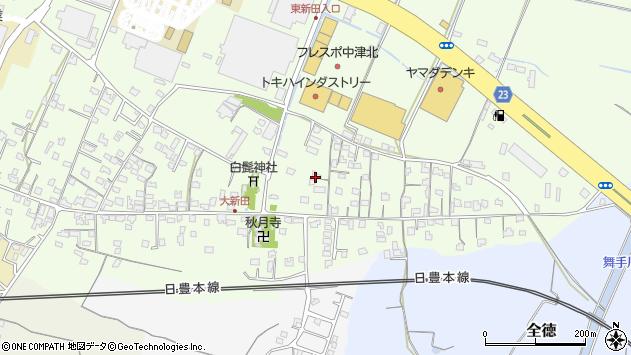 大分県中津市大新田721周辺の地図