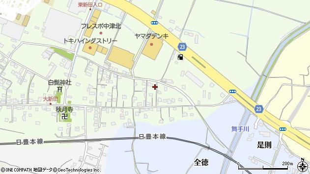 大分県中津市大新田655周辺の地図