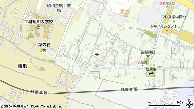 大分県中津市大新田816周辺の地図