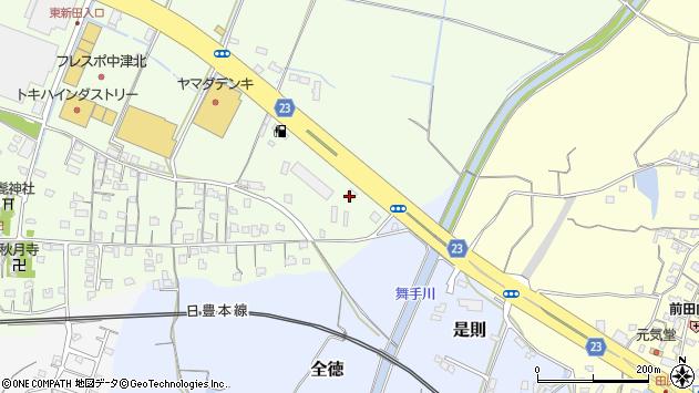 大分県中津市大新田621周辺の地図