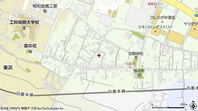 大分県中津市大新田297周辺の地図