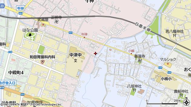 大分県中津市牛神456周辺の地図