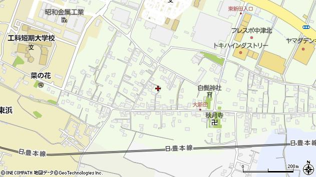 大分県中津市大新田782周辺の地図