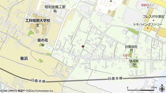 大分県中津市大新田932周辺の地図