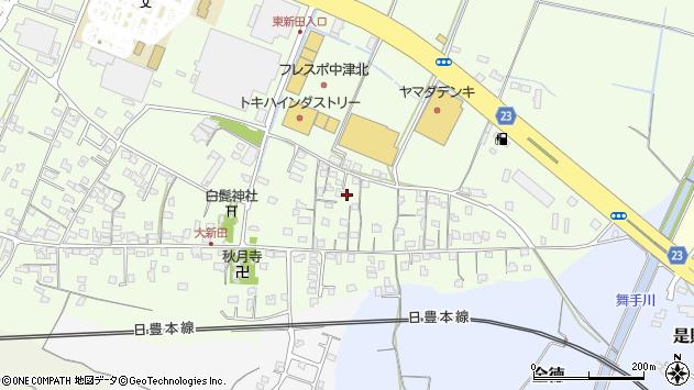 大分県中津市大新田698周辺の地図